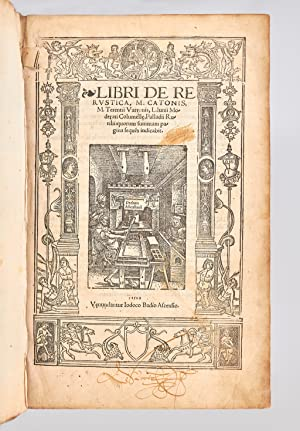 Libri de re rustica M. Catonis, M.: VARRON Marcus Terentius