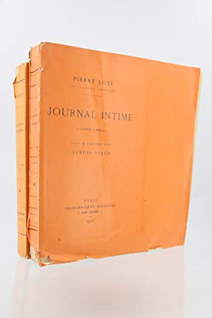 Journal intime 1878-1881 - 1882-1885: LOTI Pierre