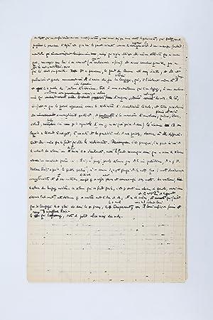 Le Paradoxe d'Aytré, manuscrit original et tapuscrit: BLANCHOT Maurice