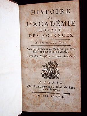 Histoire de l'Académie des sciences. Année 1718: JUSSIEU & CASSINI & REAUMUR ...
