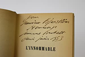 L'innommable: BECKETT Samuel