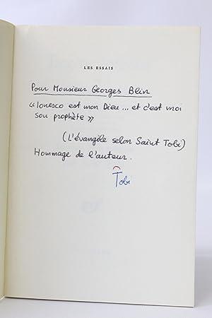 Eugène Ionesco à la recherche du paradis: TOBI Saint