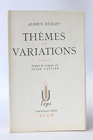 Thèmes et variations: HUXLEY Aldous