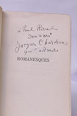 Romanesques: CHARDONNE Jacques