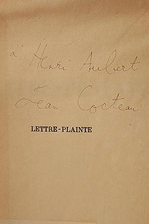 06a2f93a0da Lettre-plainte  COCTEAU Jean