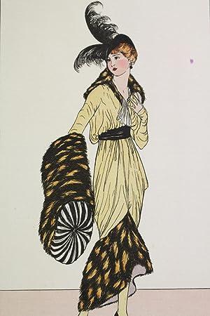 Costumes parisiens. Robe de satin topaze garnie: VAN BROCK Jan