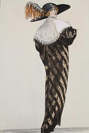 Costumes parisiens. Grand manteau de Loutre. Col: BRODERS Roger