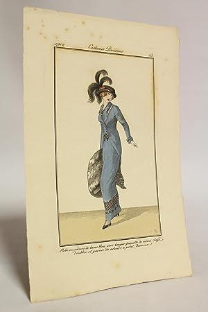 Costumes parisiens. Robe en velours de laine: ANONYME