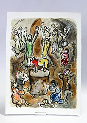 Le Veau d'Or] Then all the people: CHAGALL Marc
