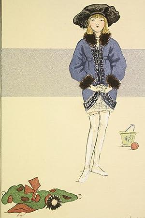 Costumes parisiens. Manteau de fillette en velours: SESBOÜE Suzanne