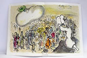 La marche des Hébreux sous la nuée: CHAGALL Marc