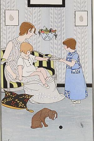 Costumes parisiens. Robe de petite fille en: FRANC-NOHAIN Marie-Madeleine