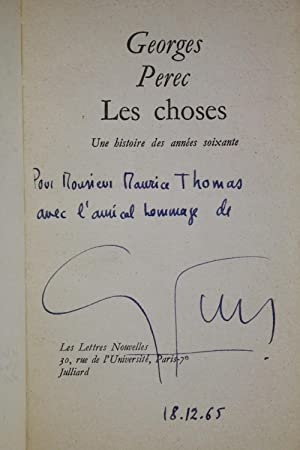 Les choses: PEREC Georges