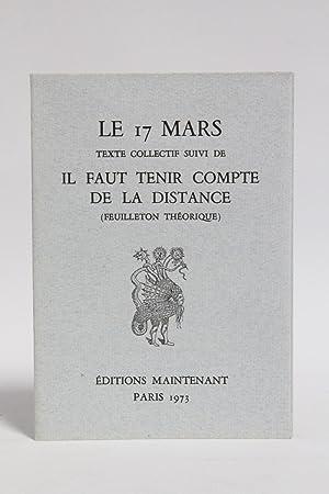 Le 17 Mars texte collectif suivi de: IVSIC Radovan &