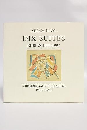 Abram Krol dix suites. Burins 1993-1997: KROL Abram