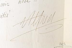 Lettre autographe inédite signée de Alfred de: VIGNY Alfred de
