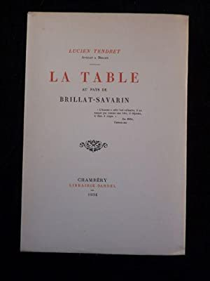 La table au pays de Brillat-Savarin