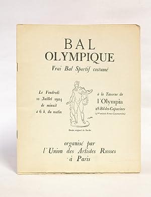Bal olympique, vrai bal sportif costumé le: PICASSO Pablo &