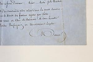 """Naïs et Chloé"""" Poème autographe inédit signé: DUMAS Alexandre"""