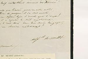 Poème autographe signé d'Alfred de Musset : MUSSET Alfred de