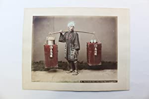 Photographie originale - Street amazake seller, a kind of drink made of fermented rice