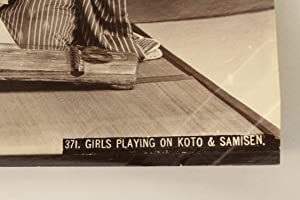 Photographie originale - Girls playing on koto & samisen