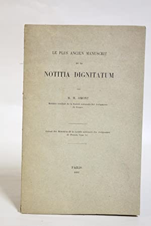 Le plus ancien manuscrit de la Notitia Dignitatum