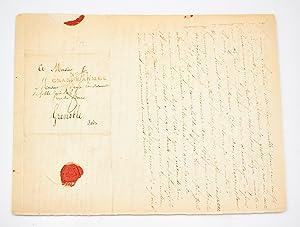 Lettre autographe adressée à sa soeur Pauline: STENDHAL