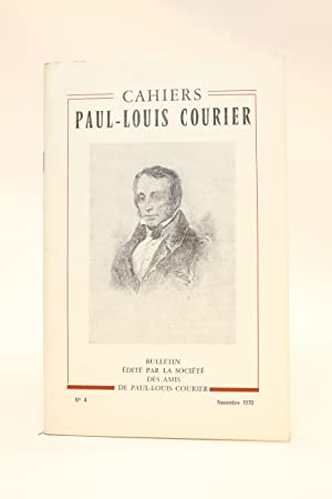 Cahiers Paul-Louis Courier N°4