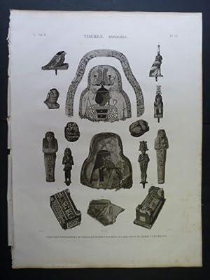 DESCRIPTION DE L'EGYPTE. Thèbes. Hypogées. Peintures d'enveloppes: DUTERTRE & SMITH