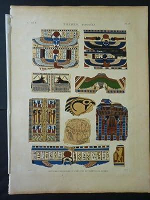 DESCRIPTION DE L'EGYPTE. Thèbes. Hypogées. Peintures dessinées: JOMARD Edme-François &