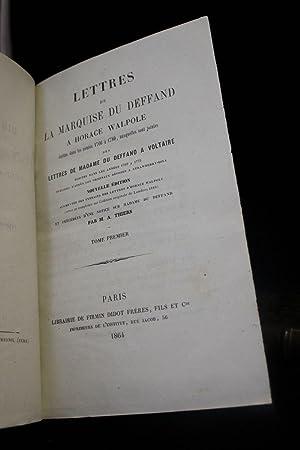 Lettres de la marquise du Deffand à: DU DEFFAND