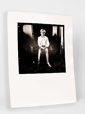 Portrait d'Andy Warhol. Photographie Originale tirée par: WARHOL Andy) TRIVIER