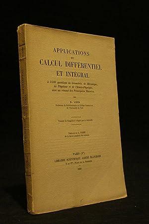 Applications du calcul différentiel et intégral à: LEIB David Deitch