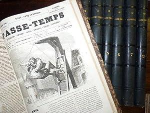 Le Passe-temps, journal hebdomadaire, tête de collection: DUMAS Alexandre &
