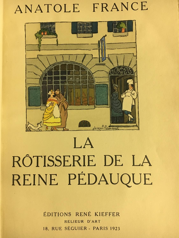 La rôtisserie de la reine pédauque Anatole France Fine Hardcover