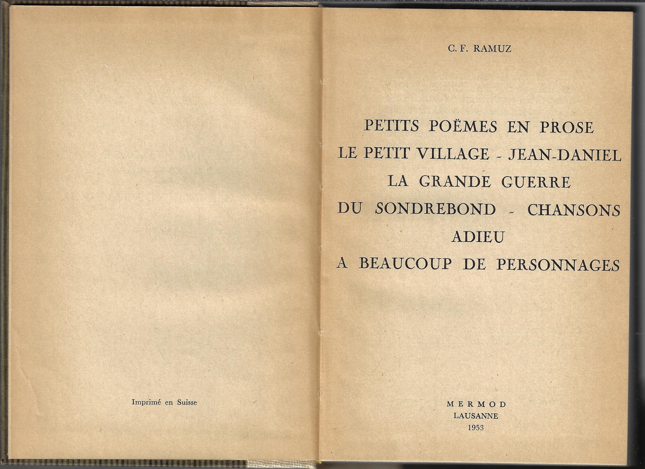 Petits Poèmes En Prose Le Petit Village