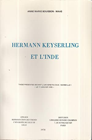Hermann Keyserling et l'Inde