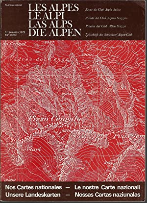 Les Alpes, revue du club Alpin Suisse - Nos cartes nationales
