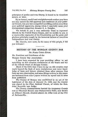 HISTORY OF THE MORGAN COUNTY BAR.: Epler, Cyrus.