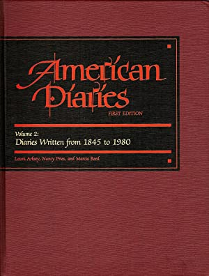 AMERICAN DIARIES. AN ANNOTATED BIBLIOGRAPHY OF PUBLISHED AMERICAN DIARIES AND JOURNALS.: Arksey, ...