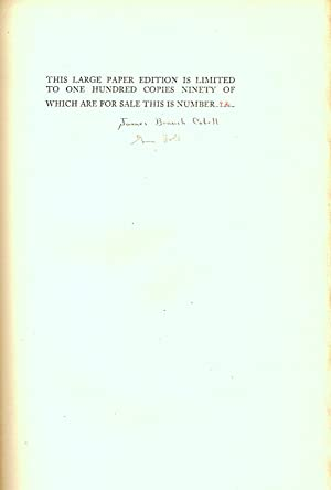 A BIBLIOGRAPHY OF THE WRITINGS OF JAMES BRANCH CABELL.: Holt, Guy.