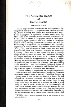 THE AUTHENTIC IMAGE OF DANIEL BOONE.: Amyx, Clifford.