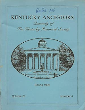 KENTUCKY ANCESTORS. QUARTERLY OF THE KENTUCKY HISTORICAL: Conover, Cheryl, Editor.