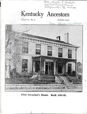 KENTUCKY ANCESTORS.: Fitzgerald, Anne, Editor.