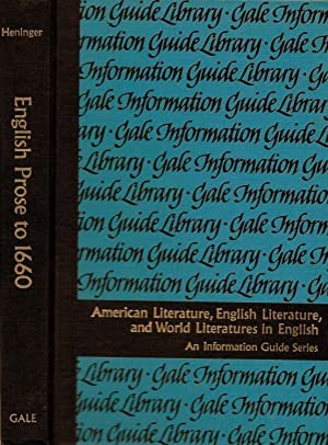 ENGLISH PROSE, PROSE FICTION, AND CRITICISM TO 1660. A GUIDE TO INFORMATION SOURCES.