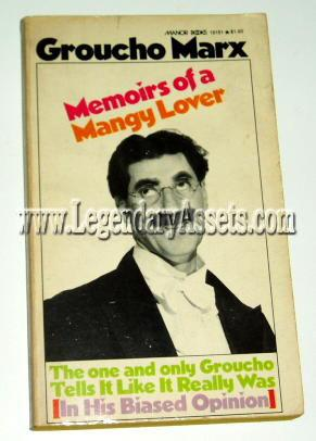 MEMOIRS OF A MANGY LOVER: Groucho Marx