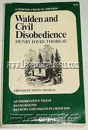 Walden and Civil Disobedience: Thoreau, Henry David