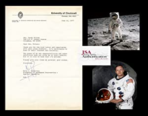 TYPED LETTER - SIGNED: Armstrong, Neil A.