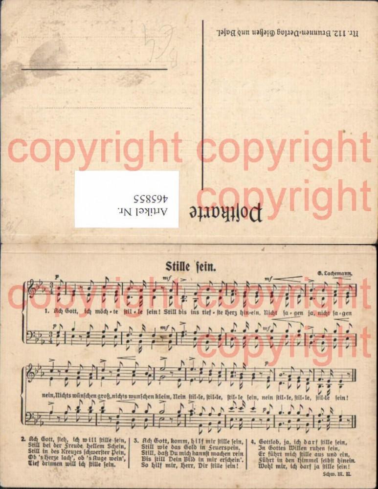 465855,Liedkarte Stille sein Text Notenzeile Musik